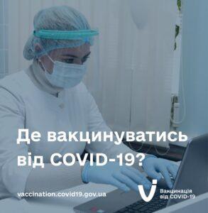Вакцинація від COVID-19: як записатися та де щепитися